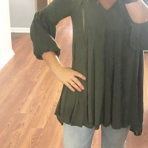Timing BoHo tunic size small green